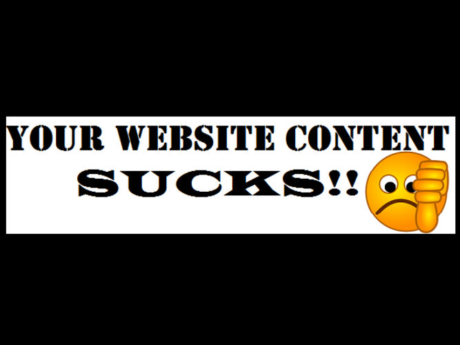 Why your website content suckss